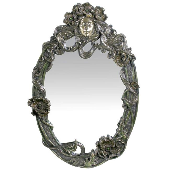 Unicorn Studios AN10480A4 Poppy Flower Maid Mirror
