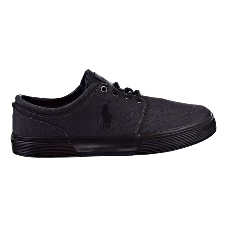 Polo Ralph Lauren Black Label (Polo Ralph Lauren Men's Faxon Low Sneaker Polo Black Denim 816198822-nt7)