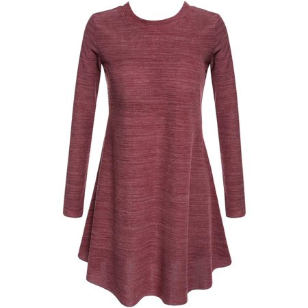 Holiday Specials! S/M/L Casual Pleated Mini Dress Long Sleeve Bottoming Dress for Women CYBST