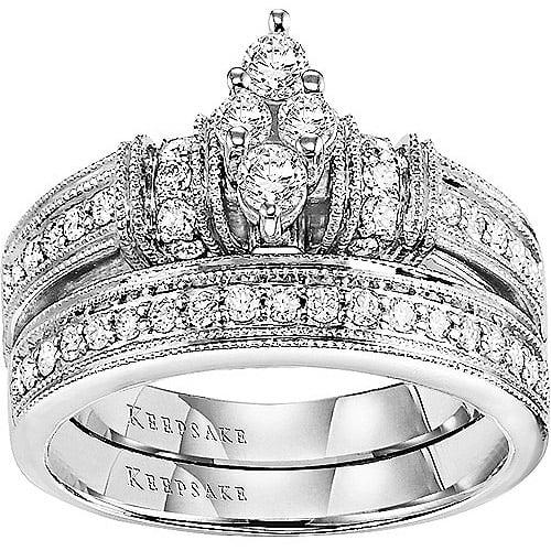 Keepsake Southern Belle 5/8 Carat T.W. 14kt White Gold Bridal Set