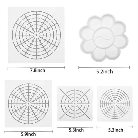 20Pcs/Set Acrylic Stick Mandala Painting Tool Stencil Carving Pottery Tool  - image 6 of 8