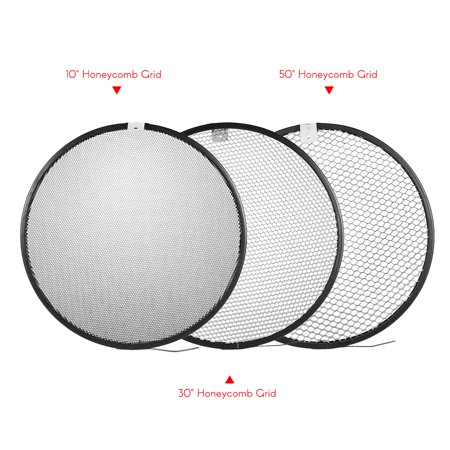 210mm Elinchrom Mount Reflector Diffuser Shade Lamp Shade with 10° 30° 50° Honeycomb Grids for Elinchrom Mount Studio Strobe Flash Light Speedlite Portrait and Commercial Photography Accessory - image 2 de 7