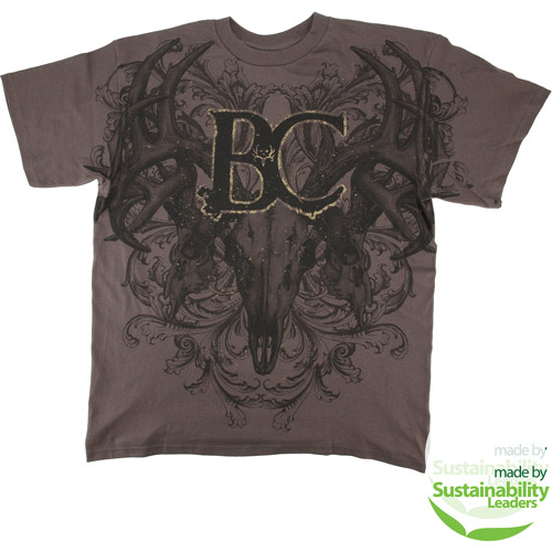 Bone Collector All Over Print Tee, Gray