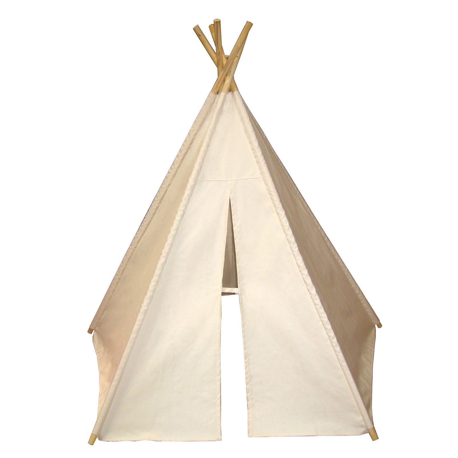 Dexton Kids DX3006 6' Hideaway Five Panel Teepee in Natural DX3006