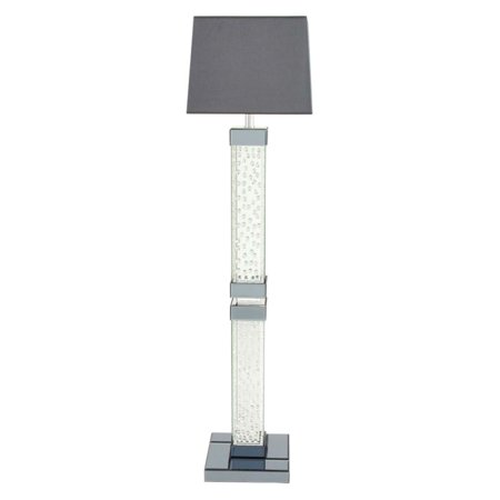 Decmode Wood Mirror Crystal Floor Lamp-Mirror - Corporate Perks Lite ...