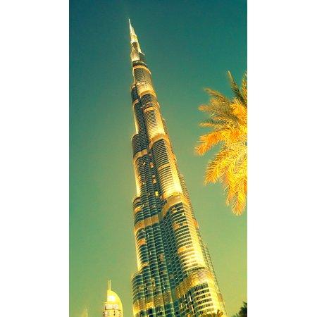 Canvas Print Dubai Skyscraper Burj Khalifa Tallest Building Stretched Canvas 10 x