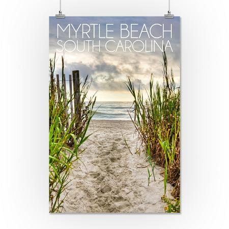 Myrtle Beach South Carolina Pathway To The Beach Lantern Press Photography 16x24 Giclee