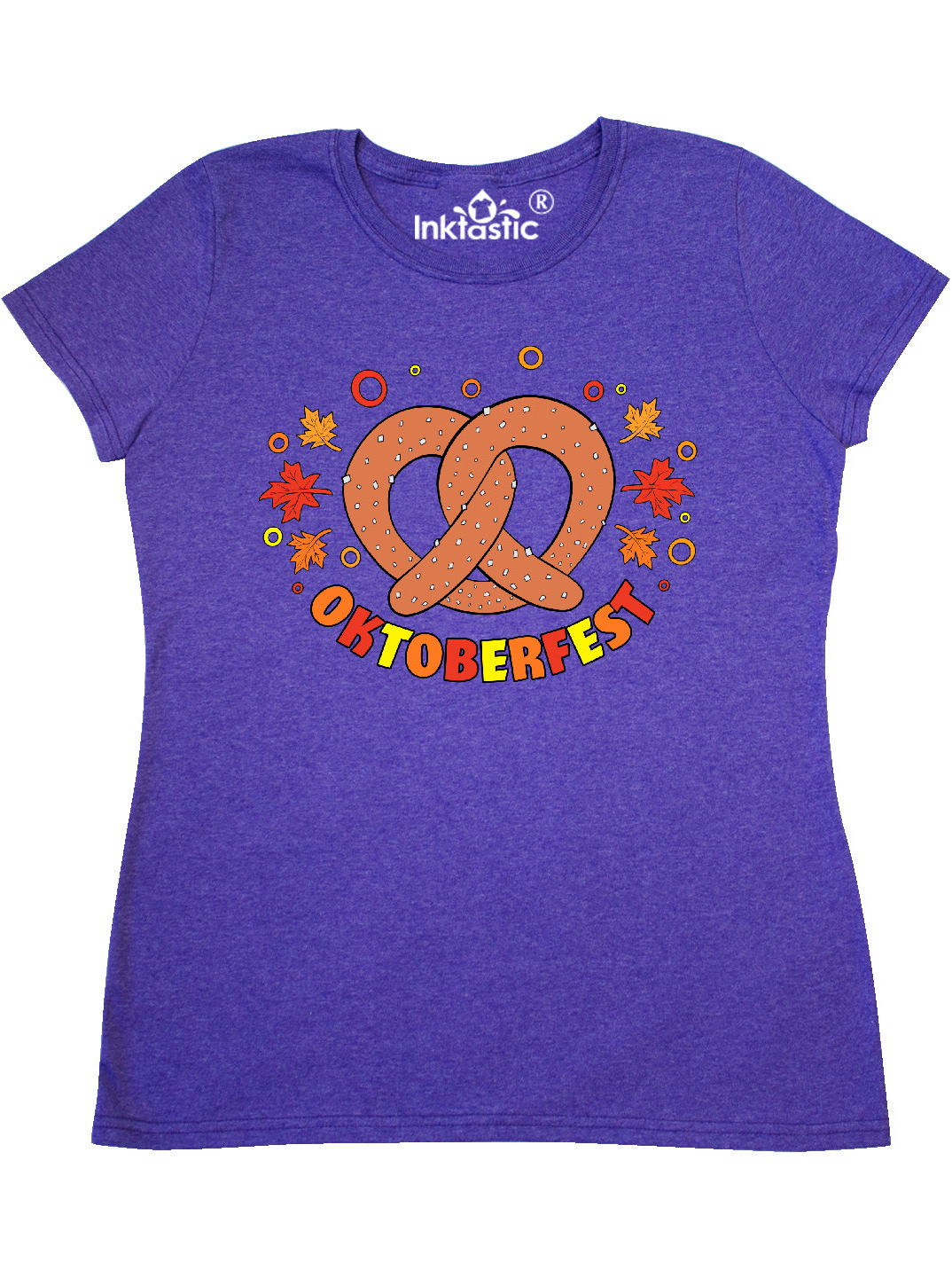 inktastic Oktoberfest Pretzel and Leaves Baby T-Shirt
