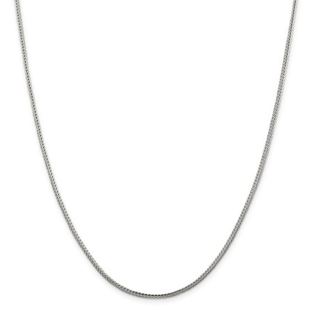 925 Sterling Silver 2mm Diamond-cut Round Franco Chain 20 Inch - image 5 of 5