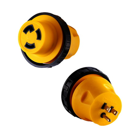 Power Cord Lock - New RV Locking Power Cord Plug Adapter 15 Amp Male to 30 Amp Female Twist Lock