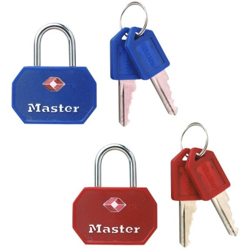 Master Lock 4681TBLR Master Lock Luggage Lock Assorted Colors, 2-Count