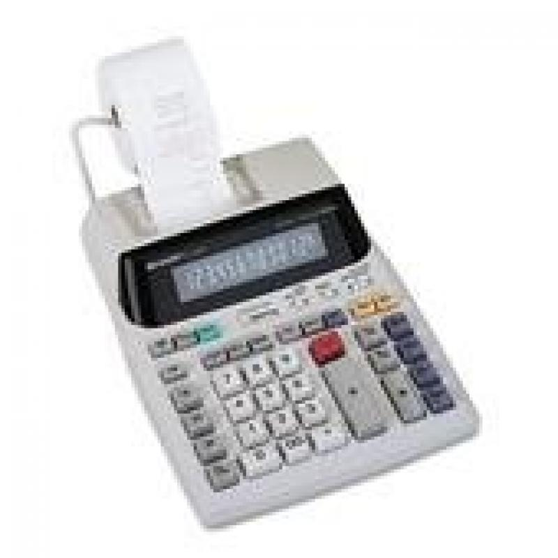 Sharp EL1801V EL-1801V Two-Color Printing Calculator Blac...