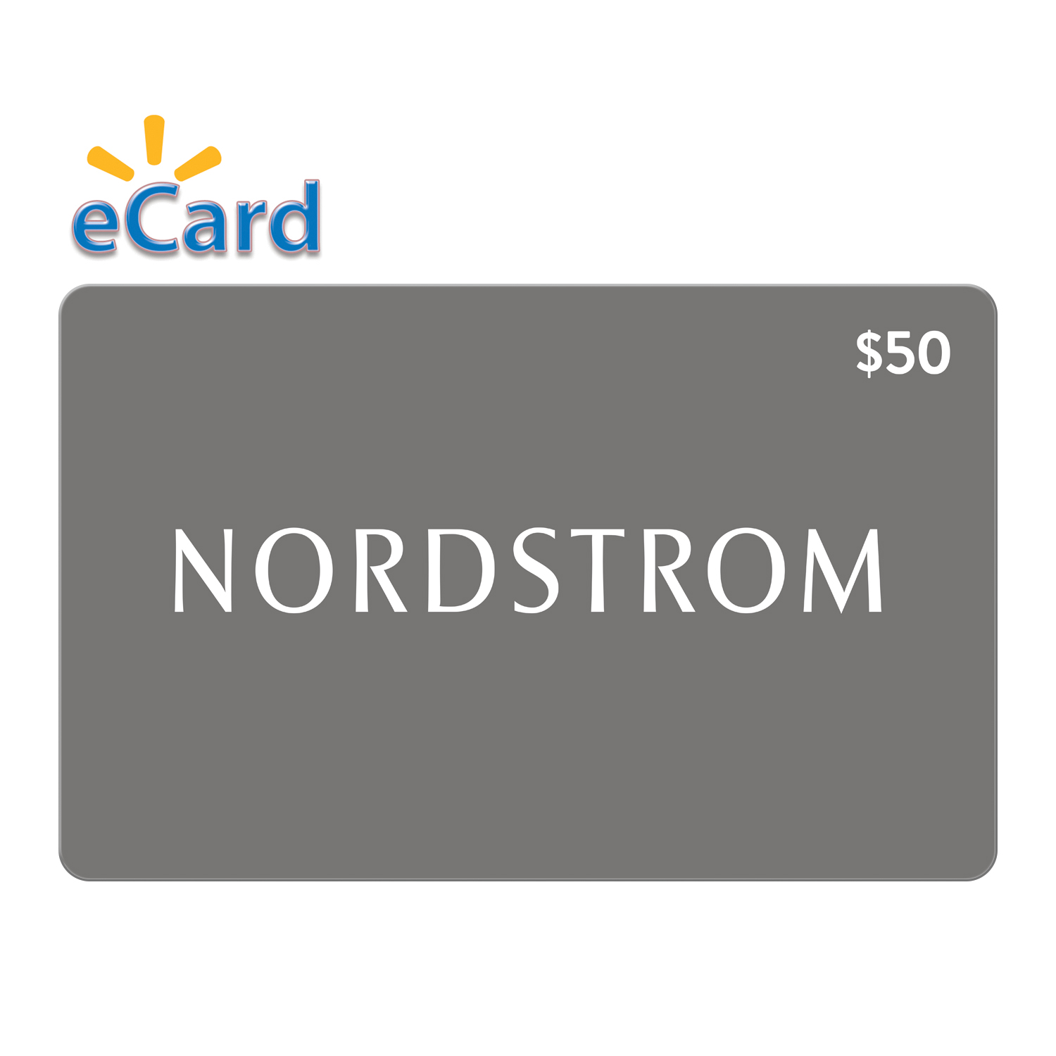 Nordstrom Gift Card 50 Email Delivery Walmart