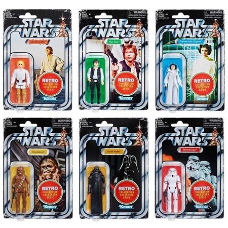 Star Wars Retro Collection 2019 Assortment Wave 1 (Set of All 6 figures!) ()