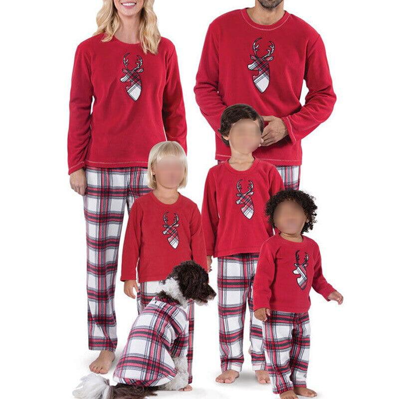 Details about  /Christmas Parent-child Family Pajamas Set Adult Kid Xmas Sleepwear Nightwear PJ