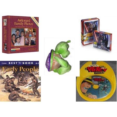 Children's Gift Bundle [5 Piece] -  Awkward Family Photos  - Crayola Crayons Star Wars Darth Vader Collectible Tin  - Turtle  14