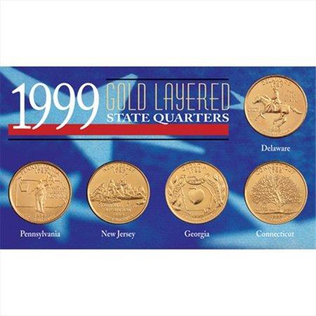 American Coin Treasures 6704 1999 Gold-Layered State Quarters (1999 Love Treasures)