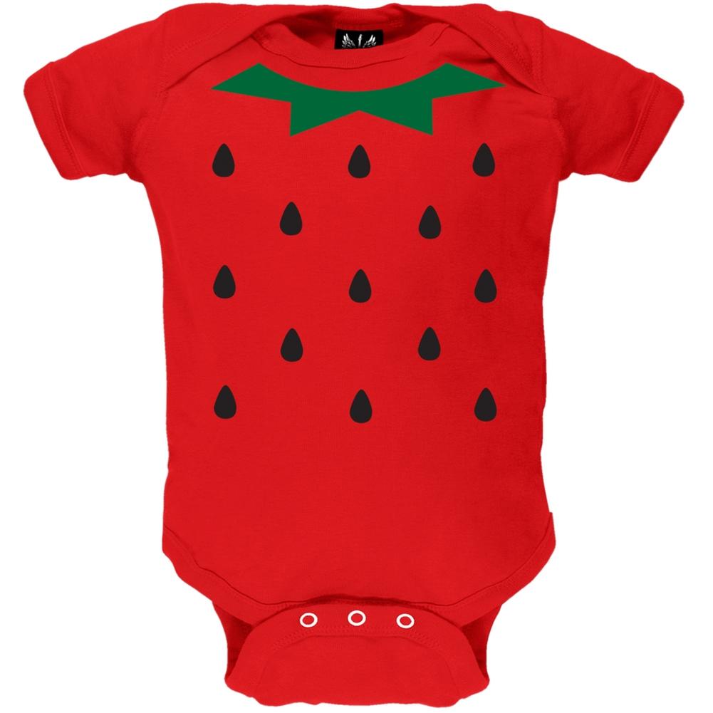 Strawberry Costume Baby One Piece