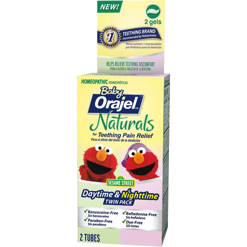 Baby Orajel Naturals Daytime & Nighttime Teething Gel Twin Pack, 2 pc