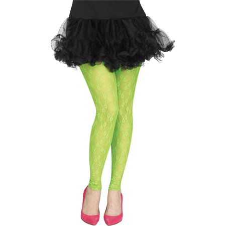 80's Halloween Commercials (80's Lace Footless Tights Adult Halloween)