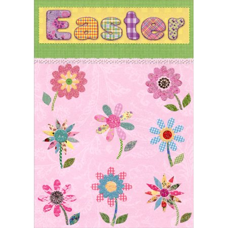 Designer Greetings Bright and Sparkling Flowers Easter Card