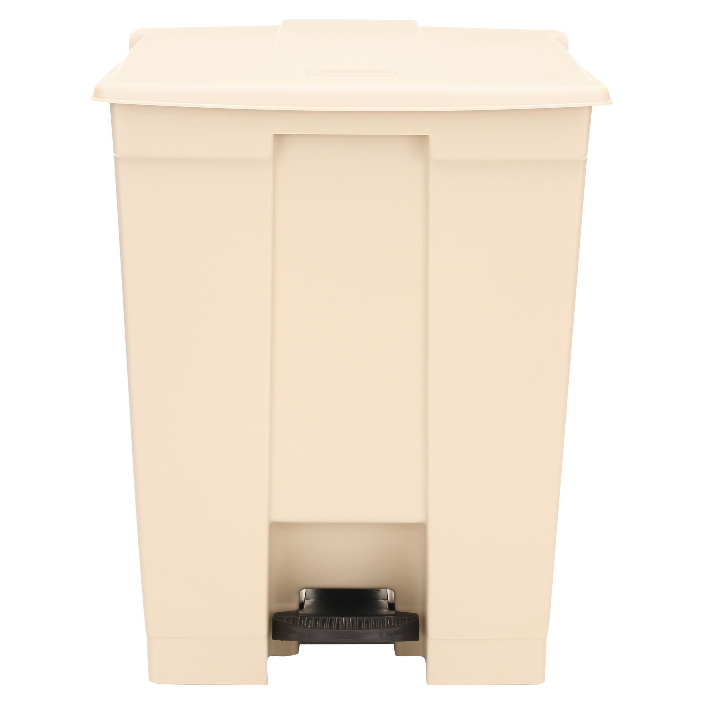 Rubbermaid Commercial Step-On Receptacle, Rectangular, Polyethylene, 18gal, Beige