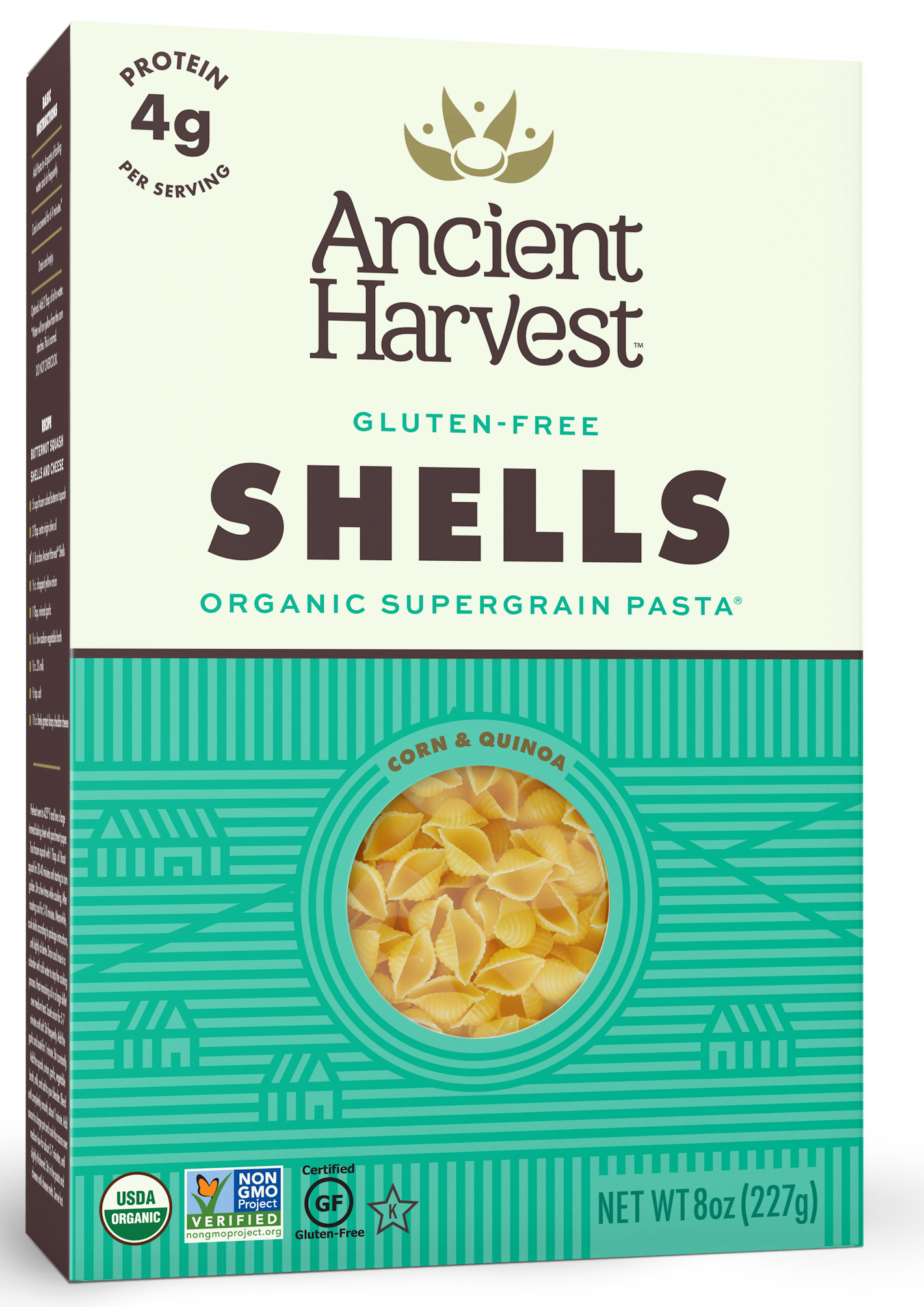 Ancient Harvest Quinoa Gluten Free Shells Pasta, 8 oz (Pack of 12) by Generic