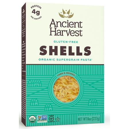 Gluten Free Shells - Ancient Harvest Quinoa Gluten Free Shells Pasta, 8 oz (Pack of 12)