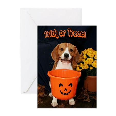 CafePress - Halloween Beagle - Greeting Card, Blank Inside Glossy](Halloween Beetle)