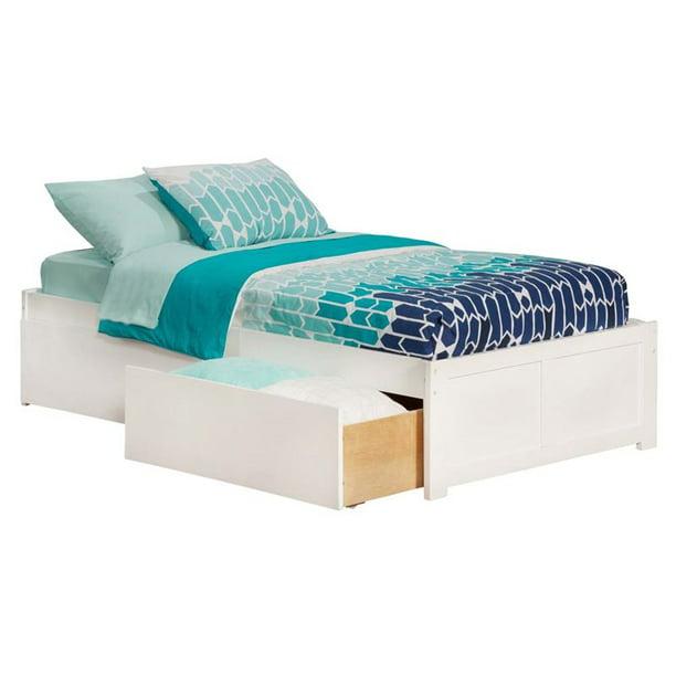 Rosebery Kids Twin Storage Platform Bed In White Walmart Com Walmart Com