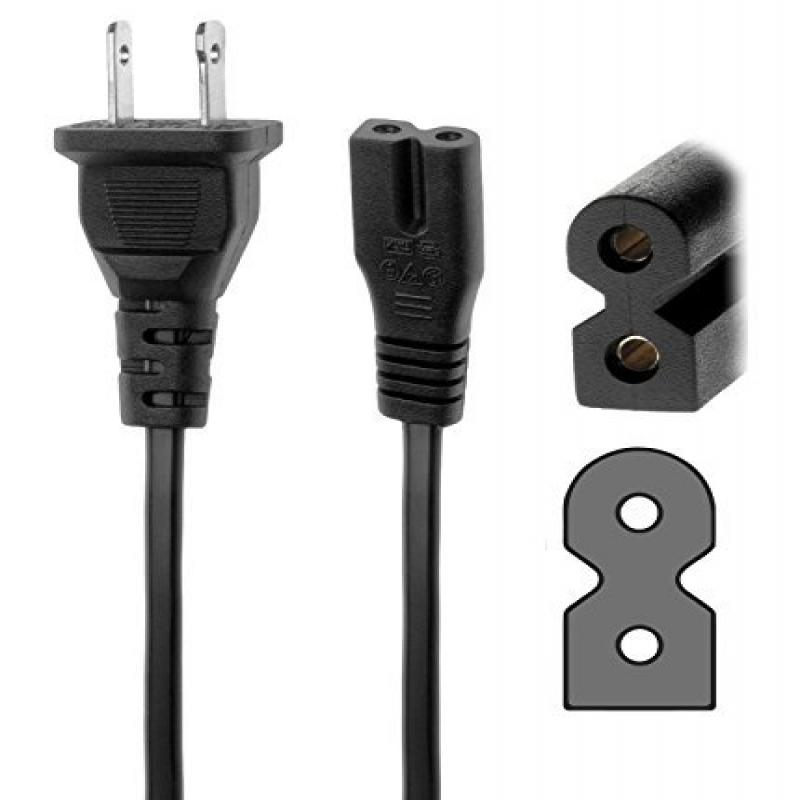 Tacpower 6ft POWER CORD 2 prong flat for VIZIO M321i M401...