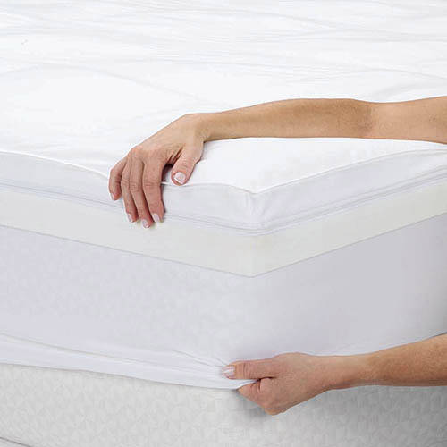 Sleep Innovations 4 Dual Layer Memory Foam Mattress Topper Twin