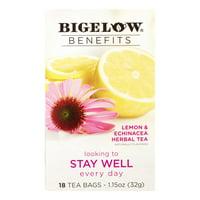 (3 Pack) Bigelow, Benefits Lemon & Echinacea Herbal, Tea Bags, 18 Ct