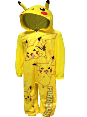 Pokemon Boys' Pokemon Pikachu Blanket Sleeper Pajama With Hood