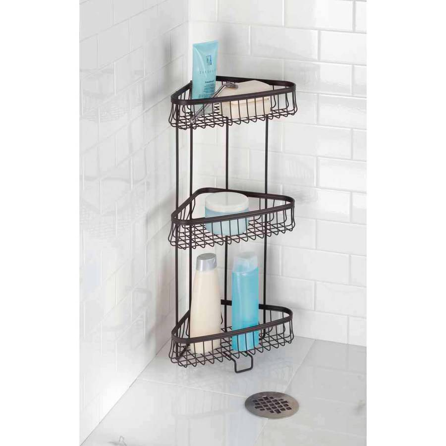 InterDesign York Lyra 3-Tier Shower Shelf