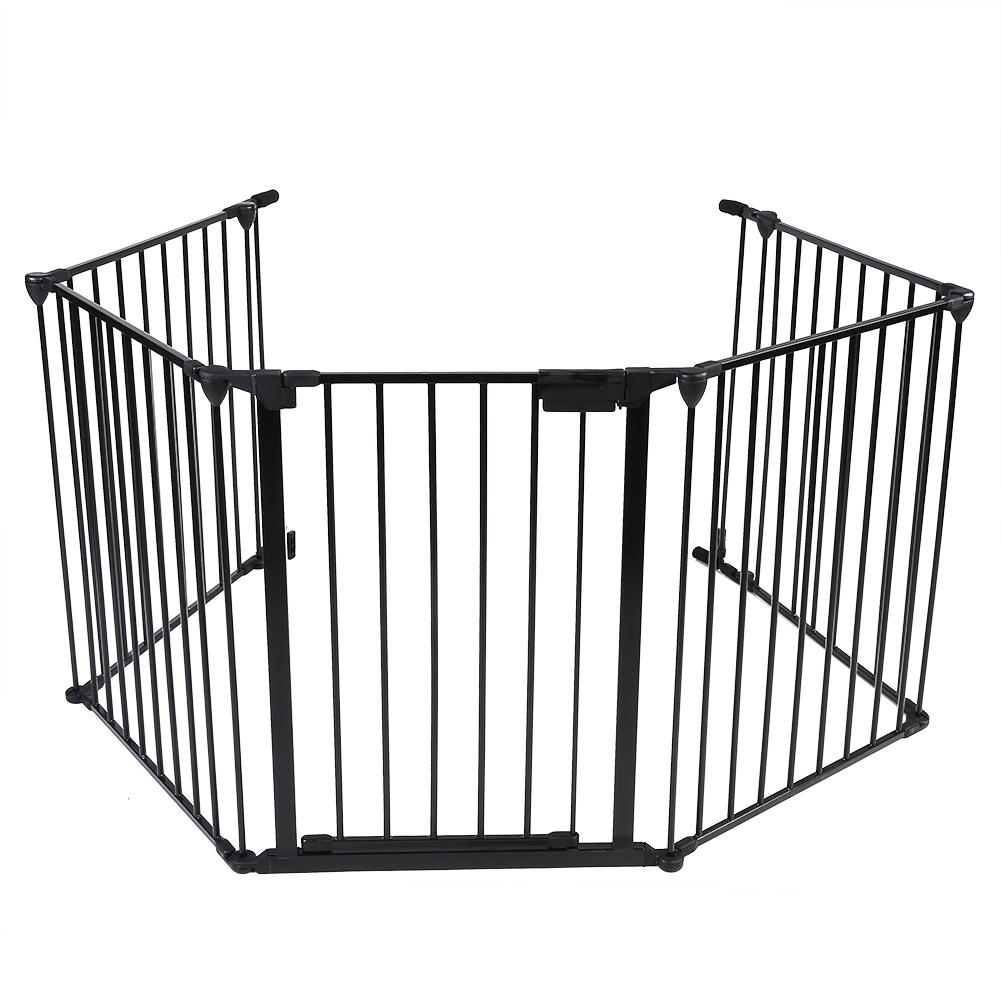 Lv. life Metal Safety Gate Fireplace Stove Fence Protection Doors for Baby Toddlers Kids Pets , Baby Safety... by Lv. life