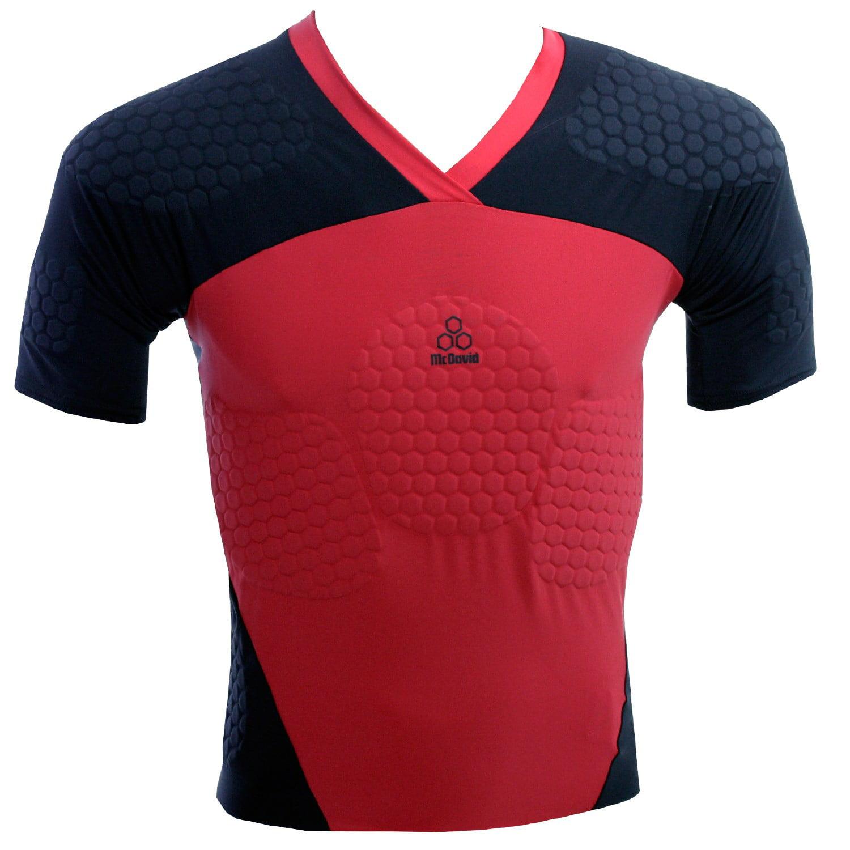 McDavid Classic Logo 766 CL Hexpad Rugby Max Shirt Black ...