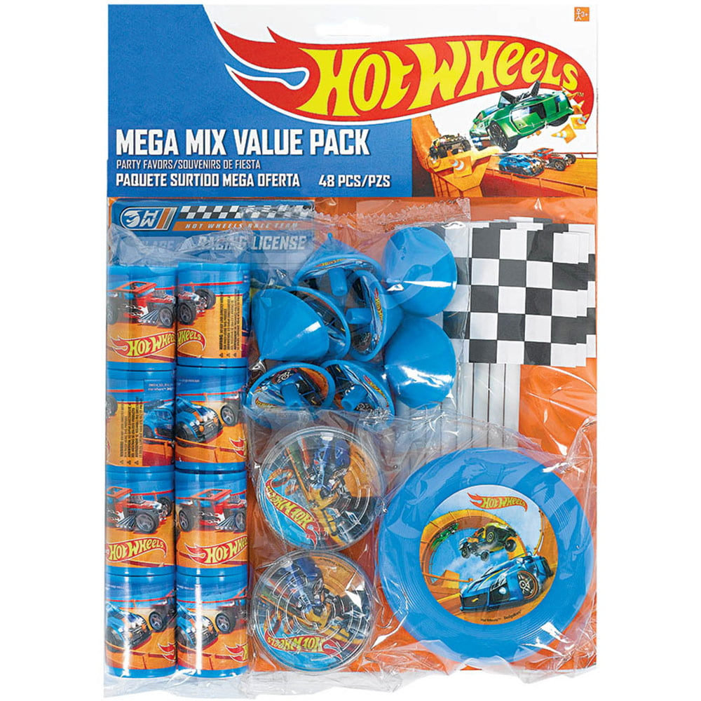 HOT WHEELS Wild Racer FAVOR PACK 48pc ~ Birthday Party Supplies Toys Goody