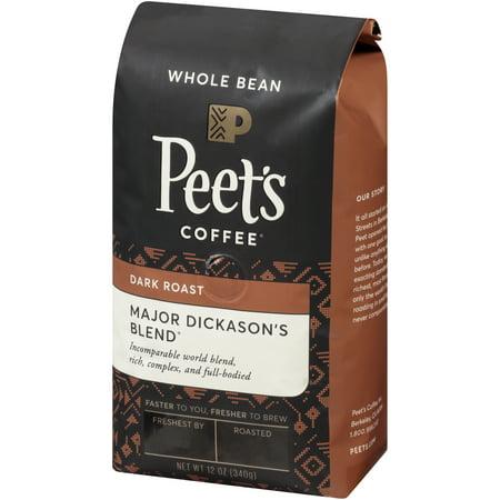 - Peet's Coffee® Major Dickason's Blend® Dark Roast Whole Bean Coffee 12 oz. Bag