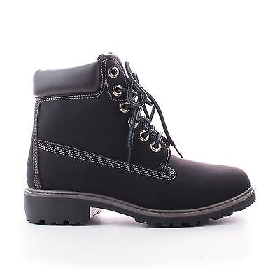 Terrain by Nature Breeze, Round Toe Lug sole Lace Up Ankle Cuff Women's Boots (Terrain Lace Boots)