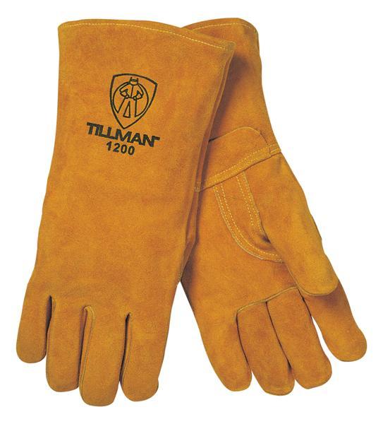 Tillman 1200 Premium Cotton Lined/Split Cowhide Welding Gloves, Large