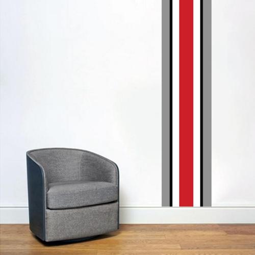 Sweetums Ohio State Helmet Stripe Wall Decal
