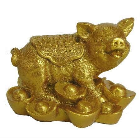 Ingot Collection - Golden Pig Statue Stepping on Ingots