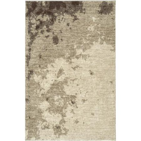 Lr Resources Lnr Home Rock Beige Abstract Area Rug  53 X 75