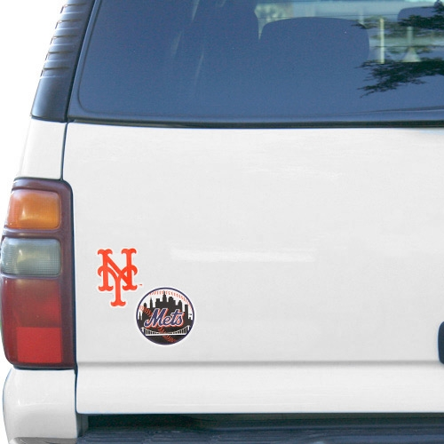 """WinCraft New York Mets 5"""" x 9"""" 2-Pack Magnet - Royal Blue/Orange - No Size"""
