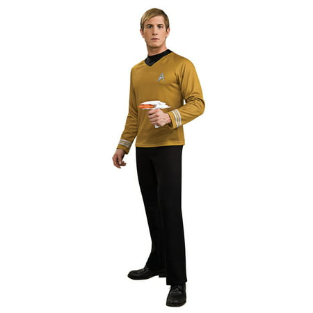 Star Trek Mens Movie Gold Shirt Adult Halloween Costume (Famous Rock Star Halloween Costumes)