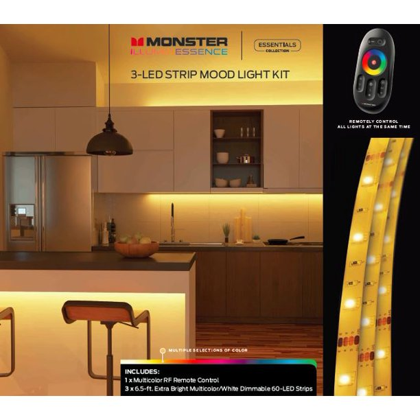 Monster Illuminessence 3-LED Strip Kit with Premium RF Touch Remote