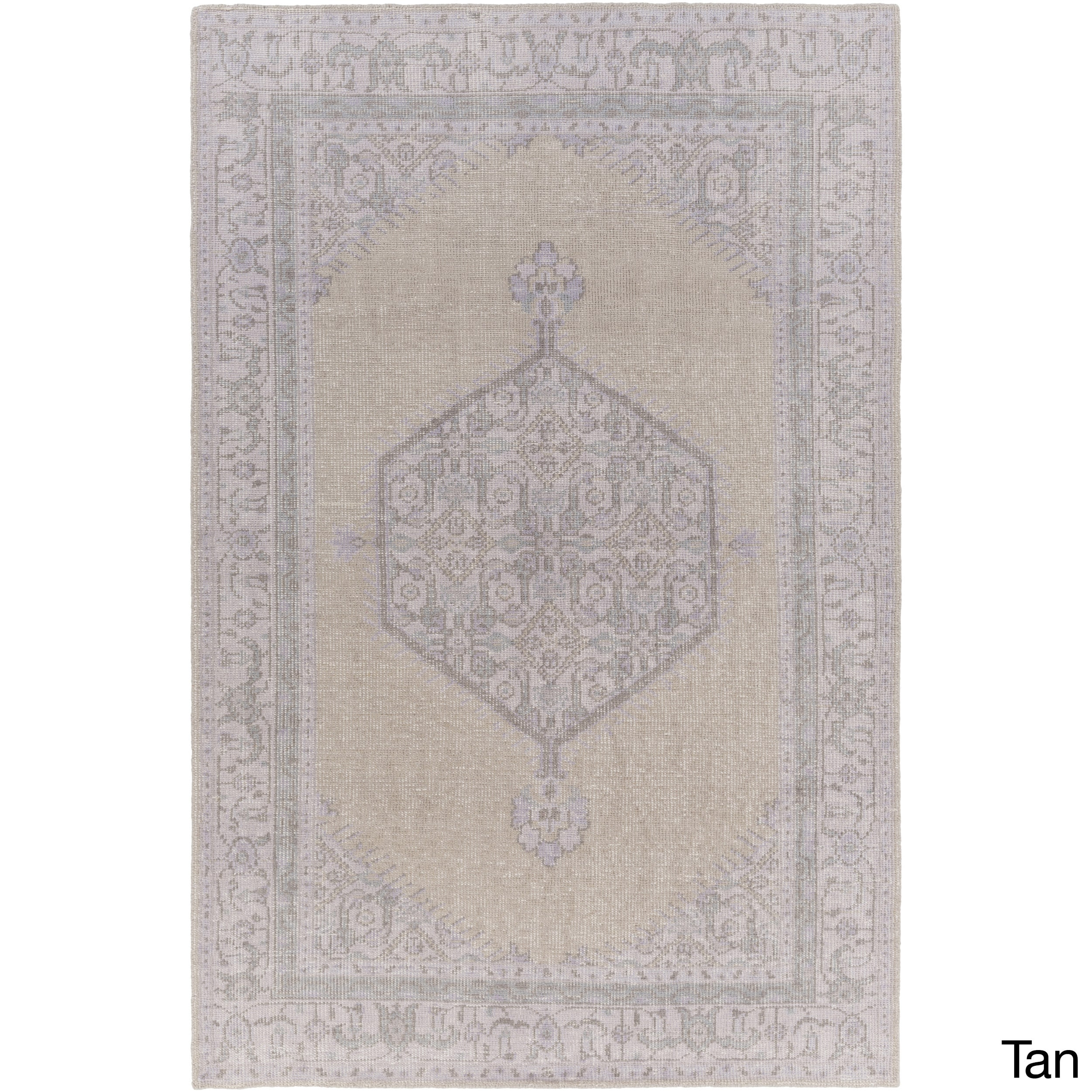 Hand-Knotted Loddon Border Wool Rug (8' x 11')