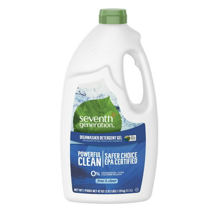 Seventh Generation Free & Clear Fragrance Free Dishwasher Detergent Gel 42 oz