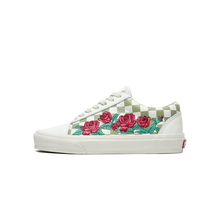 VANS - Mens Vans Old Skool DX Rose Embroidery White Marshmallow Turtledove  VN - Walmart.com 117748599